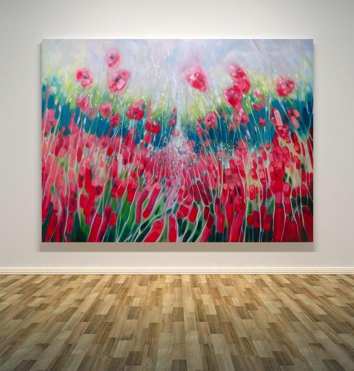 Summer Symphony - A Large Size Original Oil Landscape - Image 0