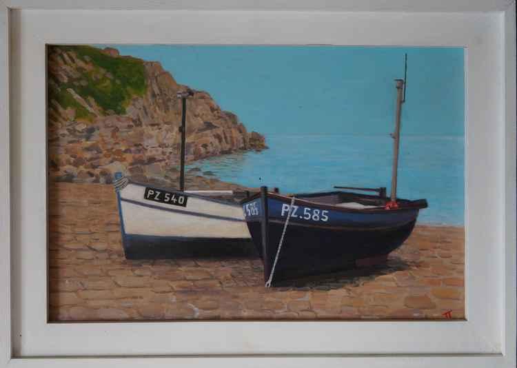 Fishing boats, Penberth Cove. -