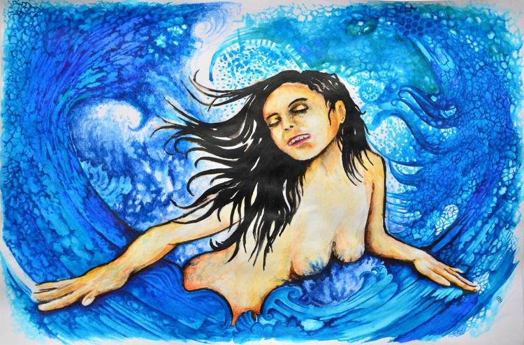 Feel The Dragon - Acrylic Fantasy Painting Art - Image 0