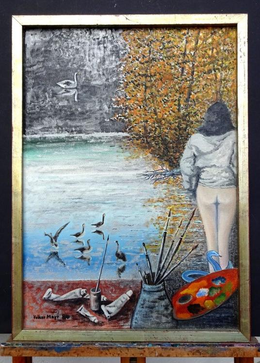 Paradise Lost - Ölbild 43 x 60 cm gerahmt - Image 0
