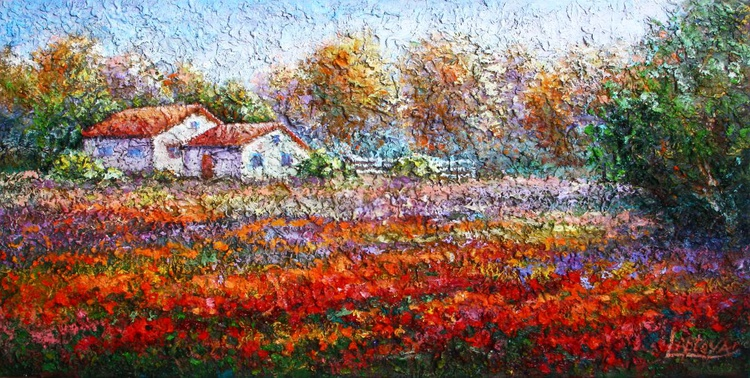 Flowering meadow. Ukrainian motives. - Image 0