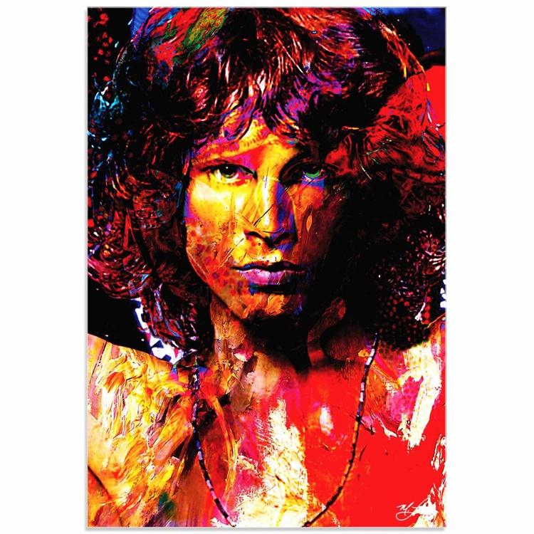 Mark Lewis 'Jim Morrison Window of My Soul' Limited Edition Pop Art Print on Acrylic - Image 0