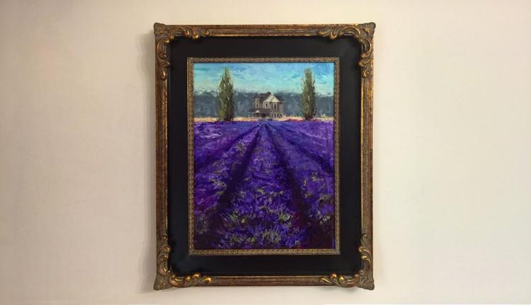 Just Beyond - Lavender Landscape Plein Air Painting - Image 0