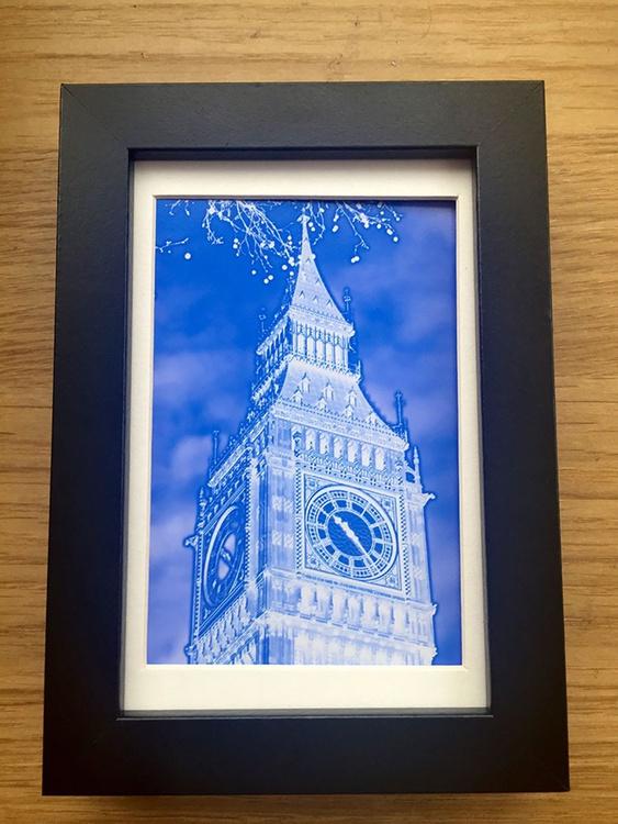 BIG BEN BLUE NEGATIVE  MINI ART 3/200 - Image 0