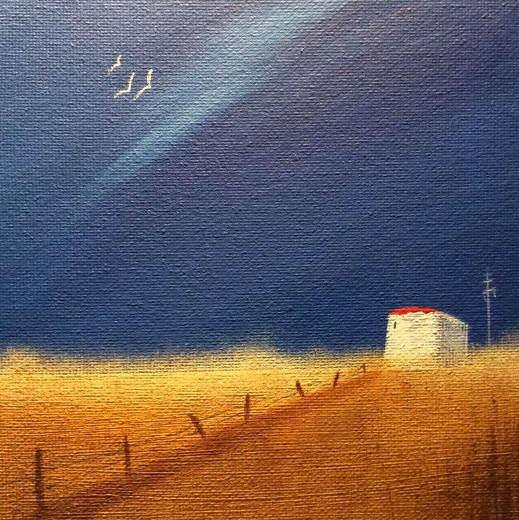 """ night turning to dawn "" ( miniature size) - Image 0"