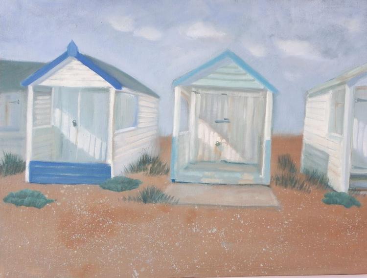 Weathered beach huts - Image 0