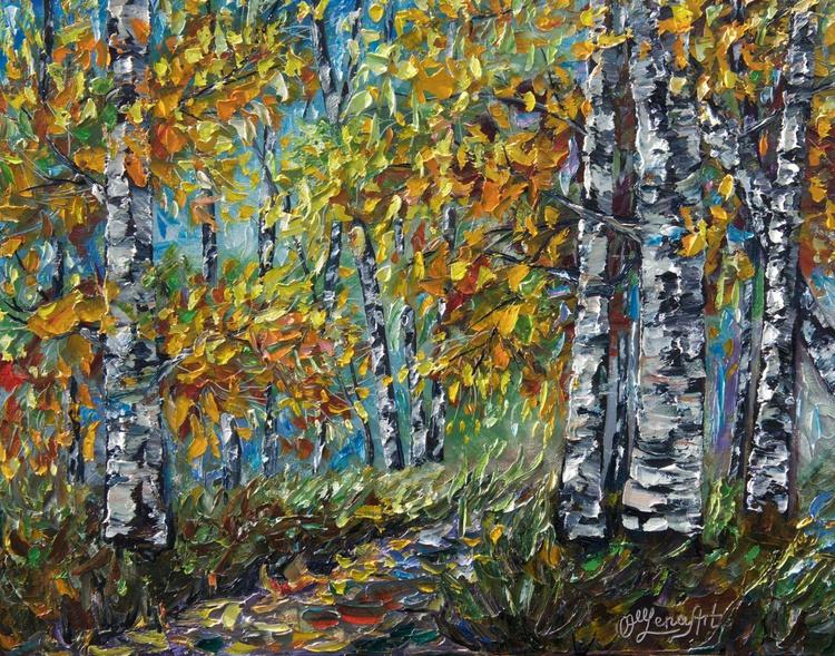 Birch Forest (PALETTE KNIFE) - Image 0
