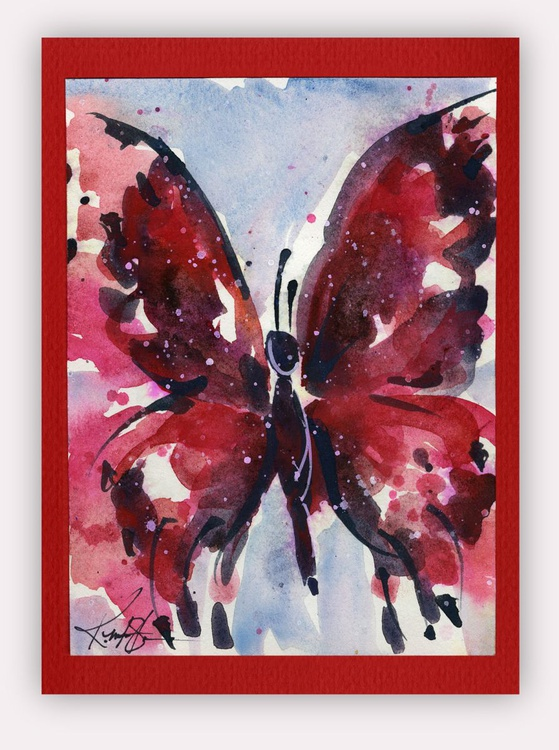 Butterfly Watercolor Painting - Butterfly Delight No. 9 - Image 0
