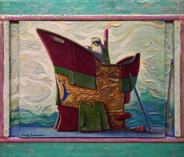 UNDER MAINTENANCE, THE SHIP OF DREAMS -( framed 3D effect ) - Image 0