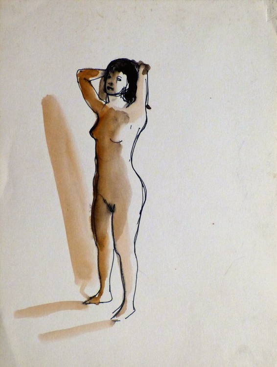 Standing Nude 2, 24x32 cm - Image 0