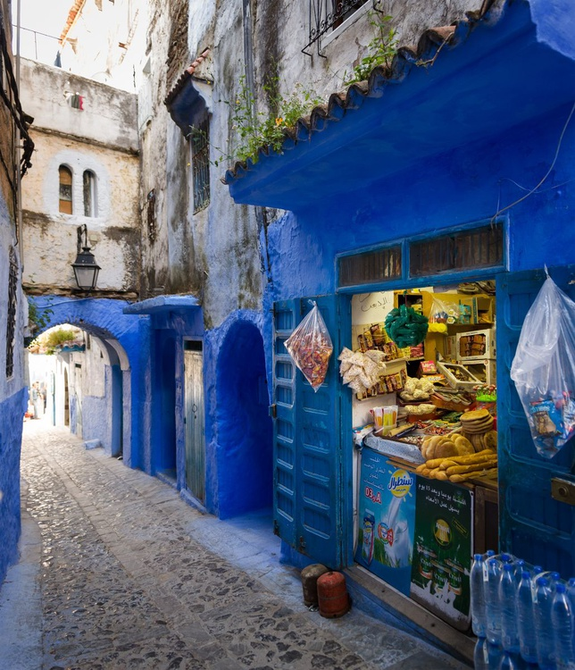 Local Shop In Chefchaouen. (42x50cm) - Image 0