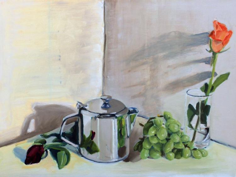 Teapot, Grapes & Rose - Image 0