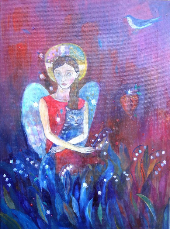 Angel with cat - Image 0