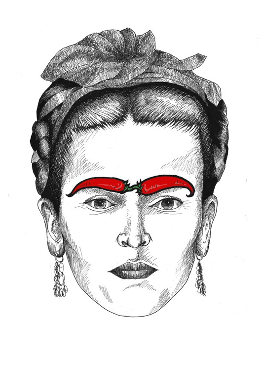 Freda Kahlo with Chillies - Image 0