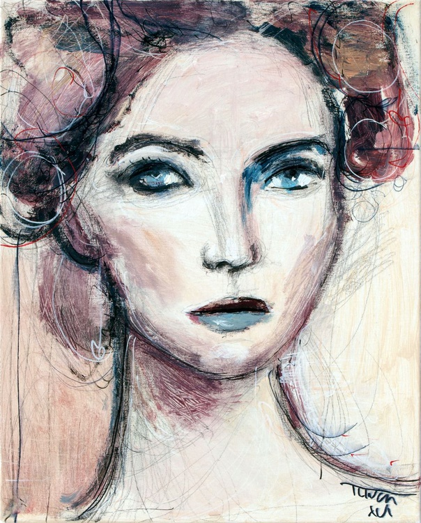 That gaze (l'une 12), figure study - Image 0