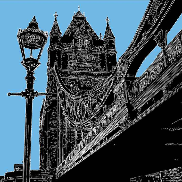 TOWER BRIDGE WITH LAMP -