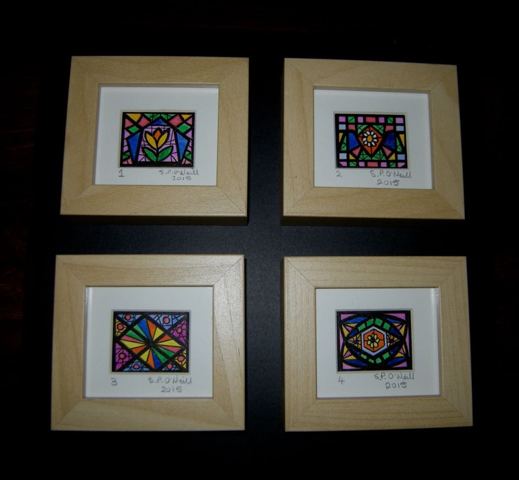 Mini stained glass windows 1 - 4 - Image 0
