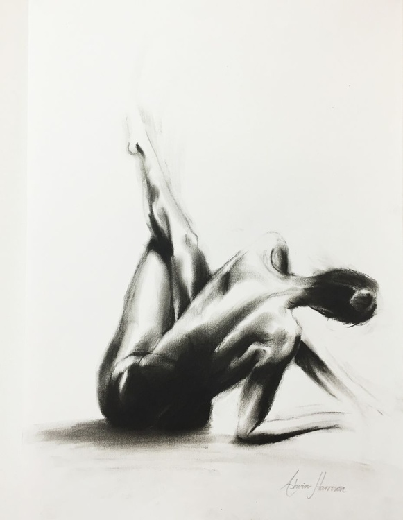 Nude Woman Charcoal Study 3 - Image 0