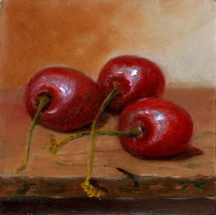 Daily Painting - Cherries -