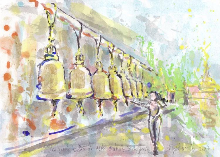 The giant bells at Wat Saket, Bangkok - Image 0