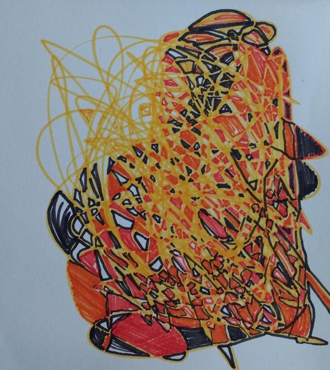 Orange Satsuma Energy Drawing (13cm x 14cm) - Image 0