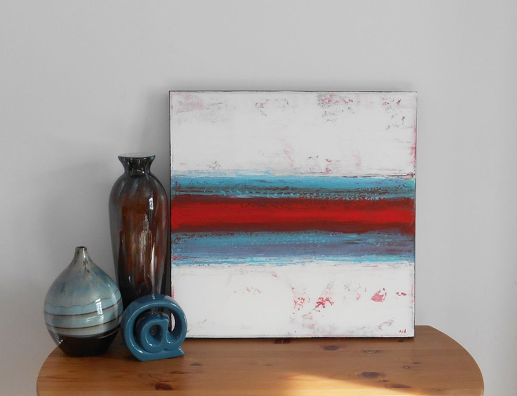 "Ruby Turquoise - 24x24"" - READY-TO-HANG - Image 0"