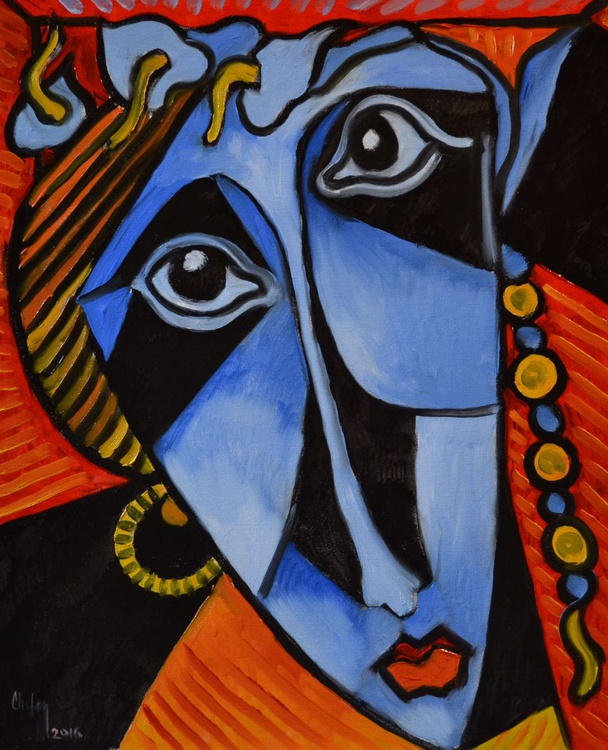 INSPIRED BY PICASSO-BLUE MASK - Image 0