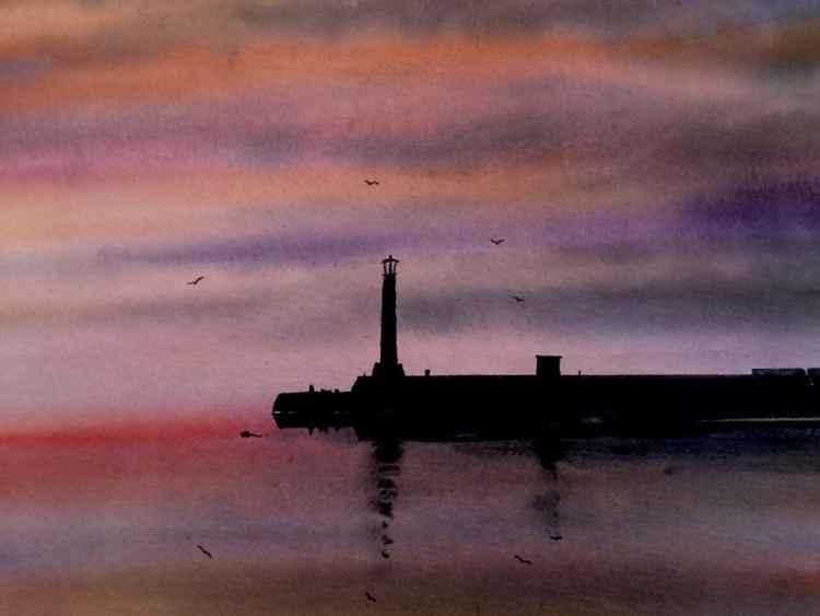 Margate pier sunset