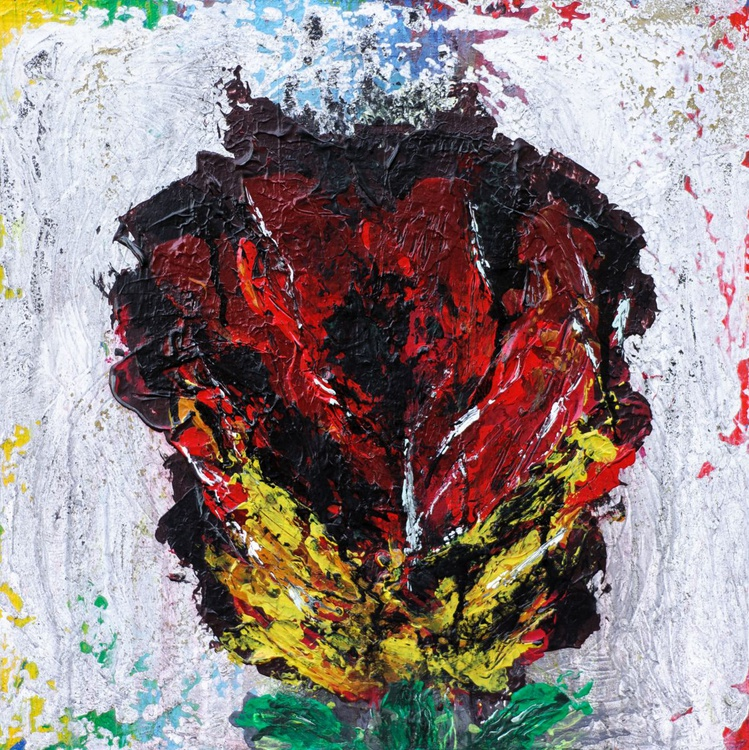 Abstract Rose Flower Painting - Image 0