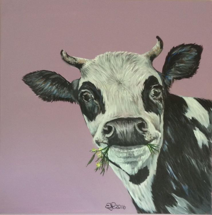 Bull Boy, 24 x 24 inch Acrylic on box Canvas - Image 0