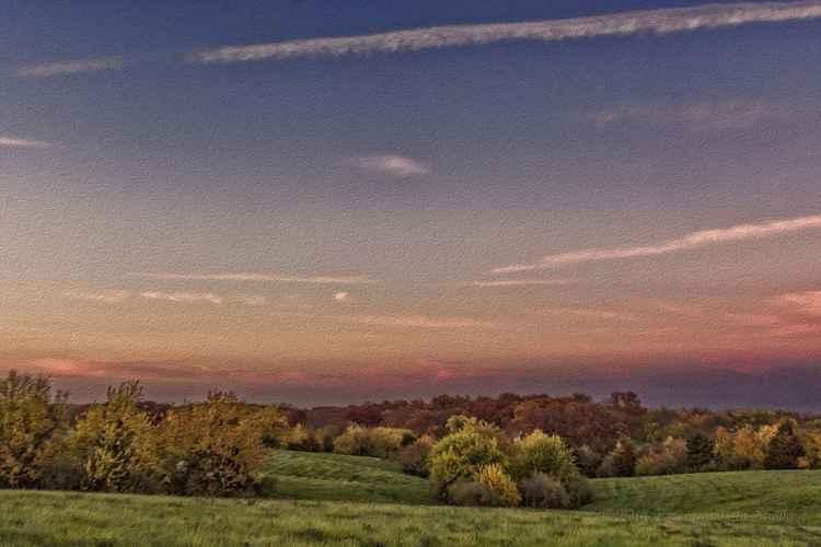 Autumn Prairie Landscape -