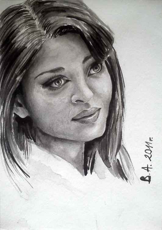 Aishwarya ink portait