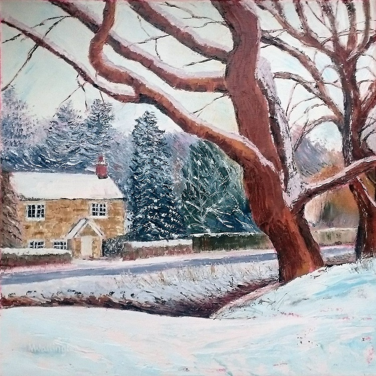 Cottage in the Snow - Image 0