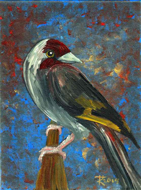 Bird with Red Face