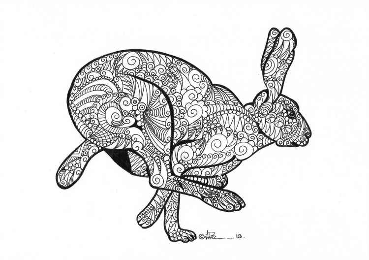 'Doodle Therapy Hare' -