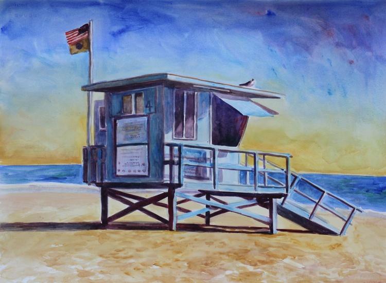 Lifeguard tower- Zuma Beach - Image 0