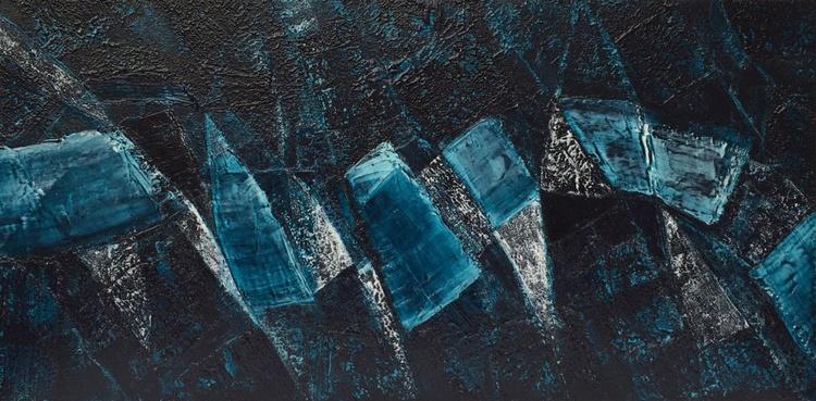 So blue, so calm #15014 (80x40cm) - Image 0