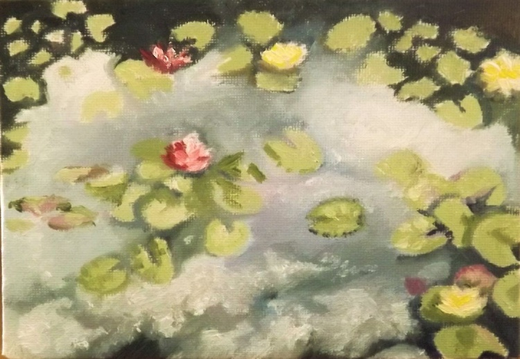 Reflections on a Lily Pond - Image 0