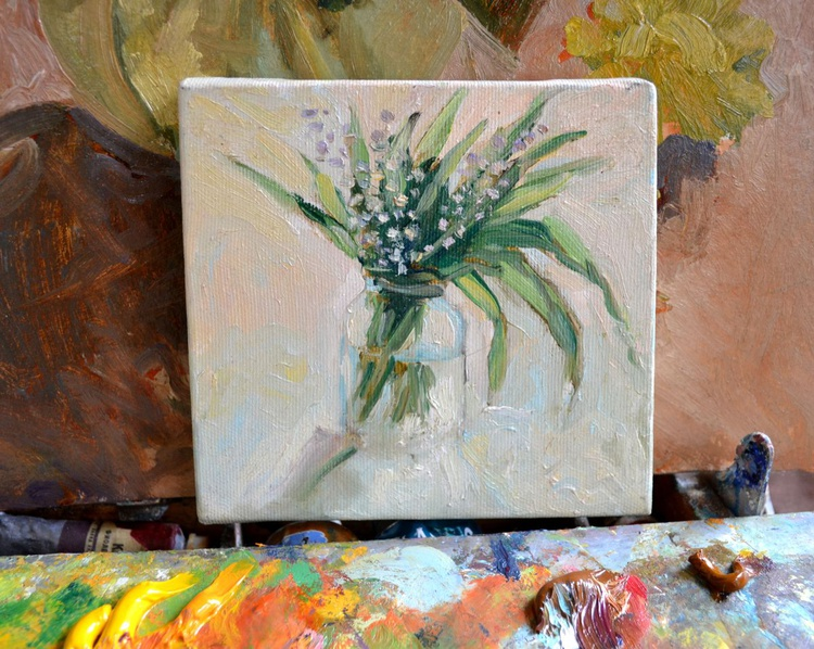 Lilies of the valley in glass - Image 0