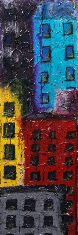 Willow Ave. Tall abstract painting - Image 0