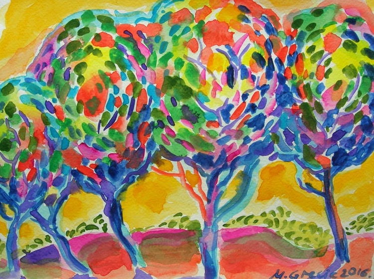 Together in the Sun - watercolour - Image 0