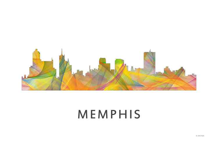 Memphis Tennessee Skyline WB1 -