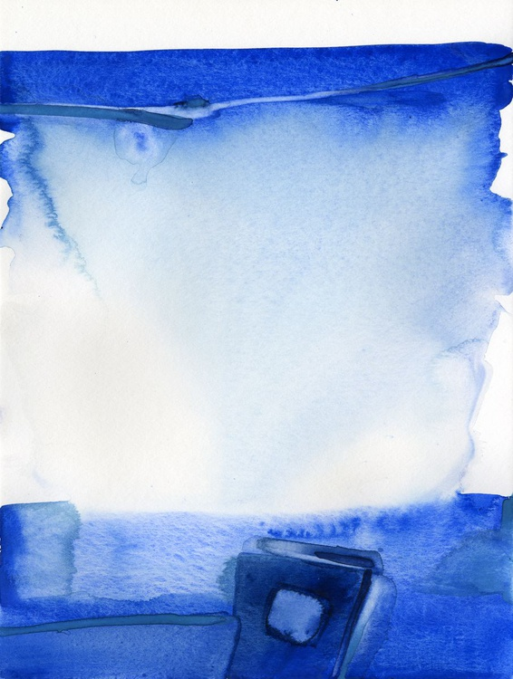 Finding Tranquility 4 - Abstract Zen Watercolor Painting - Image 0