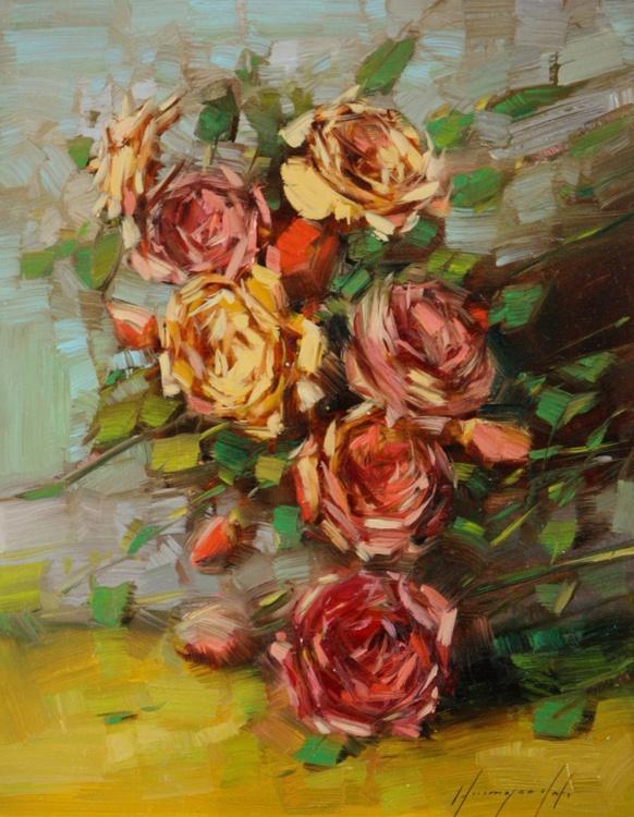 Roses Original oil Painting - Image 0