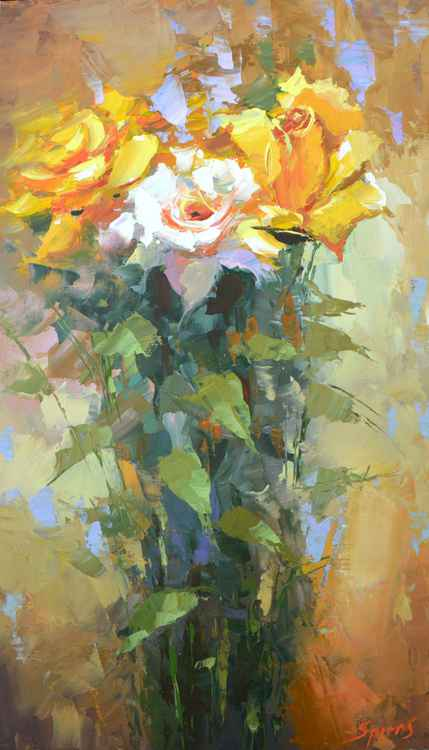 Roses #2 by Dmitry Spiros, 2015, size 40 x 70 cm -