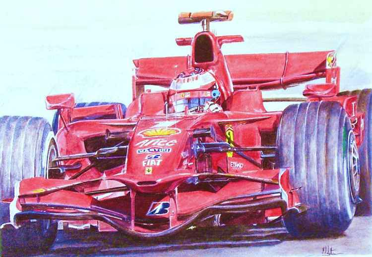 Kimi Räikkönen in the 2008 Ferrari