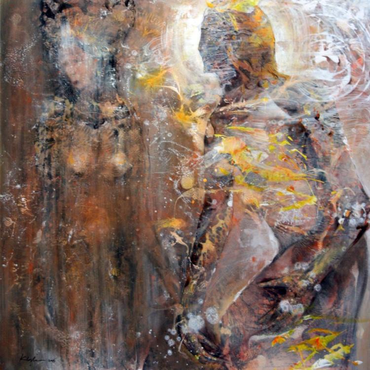 DIAPHANE ECLECTIC ONIRIC ART ANCIENT WEDDING COUPLE BABYLONIAN ROMANTIC COSMIC LOVE - Image 0
