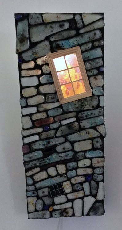 'Brick-sit' - cast glass mosaic - Image 0