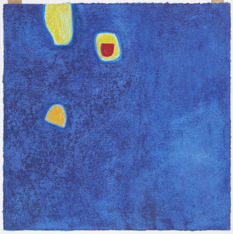 Two Yellows on Blue - Image 0