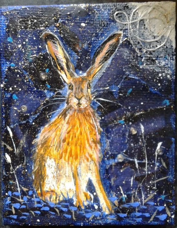Hare and the moon - Image 0